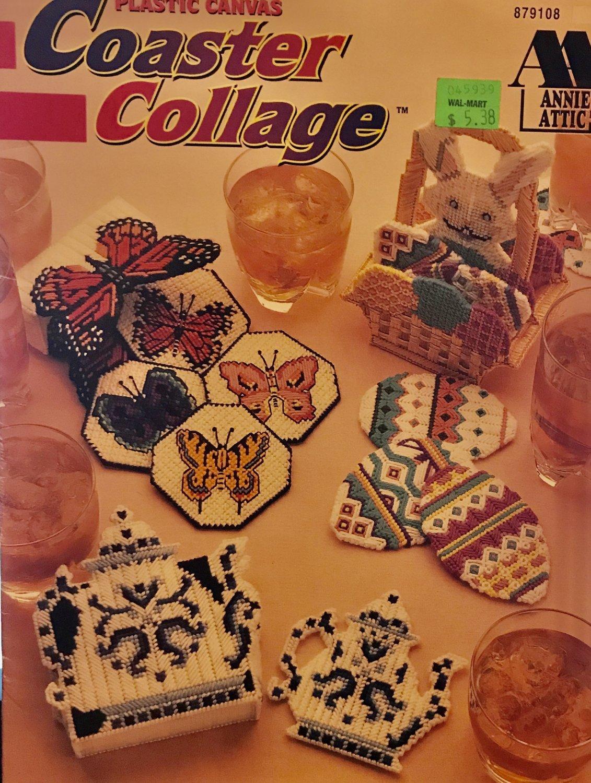 Coaster Collage Plastic Canvas Pattern Annie's Attic 879108