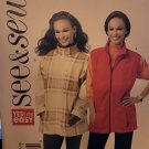 """Butterick B5698 Misses"""" Unlined Vest and Jacket Sewing Pattern Size S M L"""