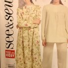 Butterick 5121 Misses' Pajama Top, Pants and gown Sewing Pattern Size 16 - 22