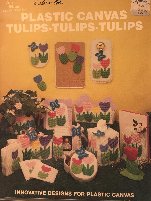 Plastic Canvas Tulips Tulips Tulips Leaflet 127 Needlecraft Ala Mode