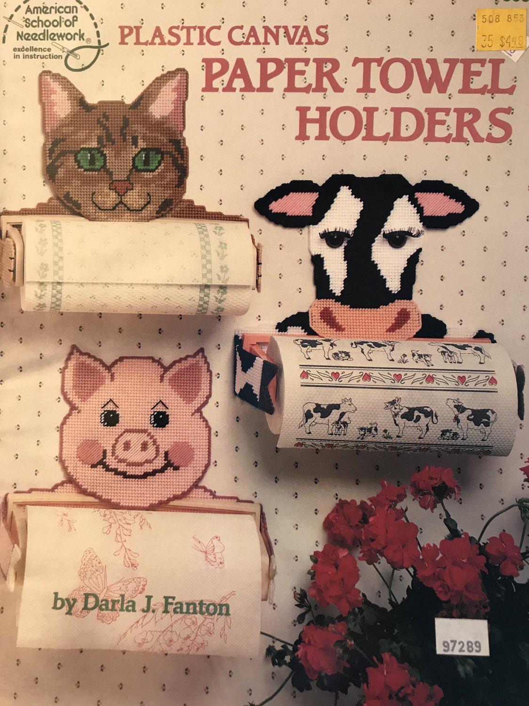 American School of Needlework �Paper Towel Holders' Plastic Canvas Pattern Booklet #3082