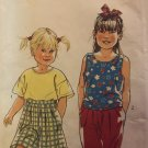 Simplicity 7709 It's So Easy Girls tops shorts pants sewing pattern size 3-6