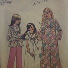 Simplicity 7202 Girl's Robe, Nightgown & Pajamas Sewing Pattern size 10