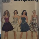 Simplicity 8357 Misses Strapless Dress with full skirt Sewing Pattern size 4 -8