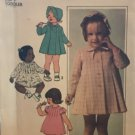 Simplicity 7945 Toddler's Dress, Coat and Hat sewing pattern size 1