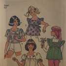 Simplicity 6912 Girls Tops sewing pattern size 6-7