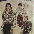 Burda 4681 Size 10 - 20 Misses' Easy Long Or Short Sleeve Drape Neckline Tunic Blouse Sewing Pattern