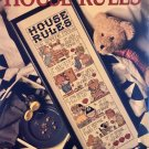 Leisure Arts leaflet 3019 House Rules Family Sampler counted cross stitch pattern