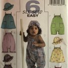 Butterick B4777 Infant's Dress, Jumpsuit and Hat Sewing Pattern for sizes sm to XL