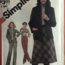 Simplicity 5198 Misses' Straight-Leg Pants, Bias Skirt and Unlined Jackets Sewing Pattern size 16