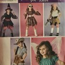 Simplicity 3680 Child's Costume Sewing Pattern Witch Fairy Cowgirl Pirate Hippie Size 3 - 8