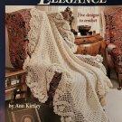 Afghan Elegance American School of Needlework 1129  Blanket Afghans Crochet Pattern