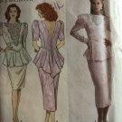 Simplicity 7005 Designer Jessica McClintock Cocktail Dress Sewing Pattern Size 4 - 12