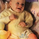 Tiny Toppers Baby pattern 477 Patons Beehive Knitting  Knit infant & toddler sweaters