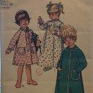 Simplicity 9043 Toddlers Robe Nightgown Raglan sleeve sleepwear sewing pattern Size 1 Breast 20