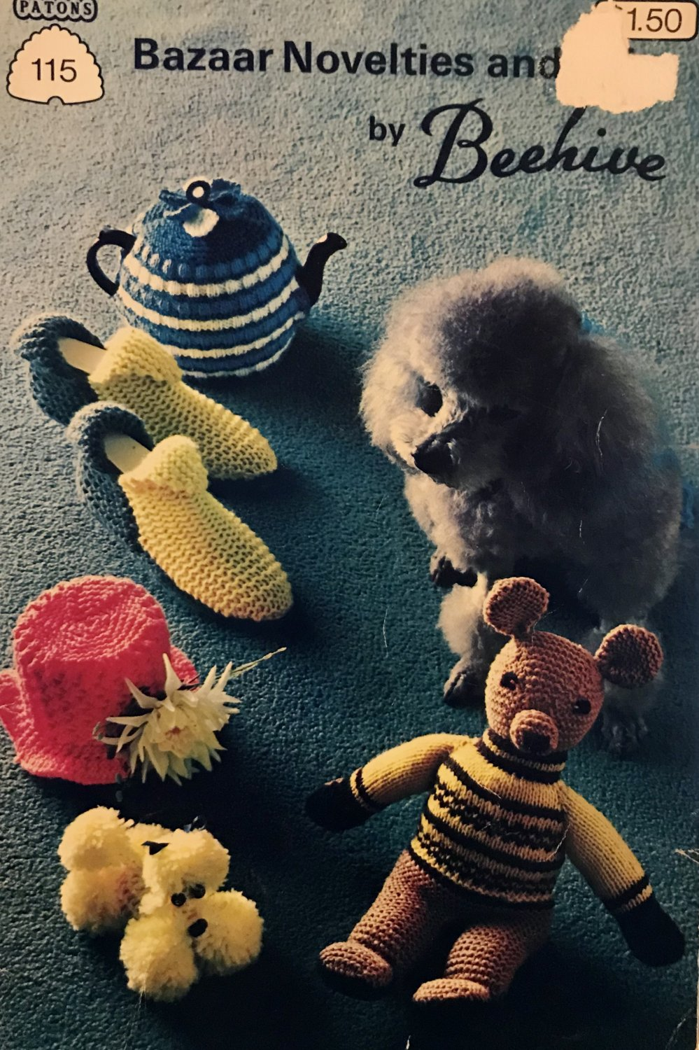 Bazaar Novelties 115 7115 Patons Beehive Knitting Pattern for toys Tea cozies and more!