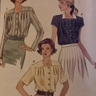 Vogue Sewing Pattern 8355 Misses Blouse long or short sleeves size 14 16 18
