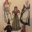 Adult Costumes Angel Pilgram Witch Wench Simplicity 7650 Sewing Pattern Size 10-12 Halloween