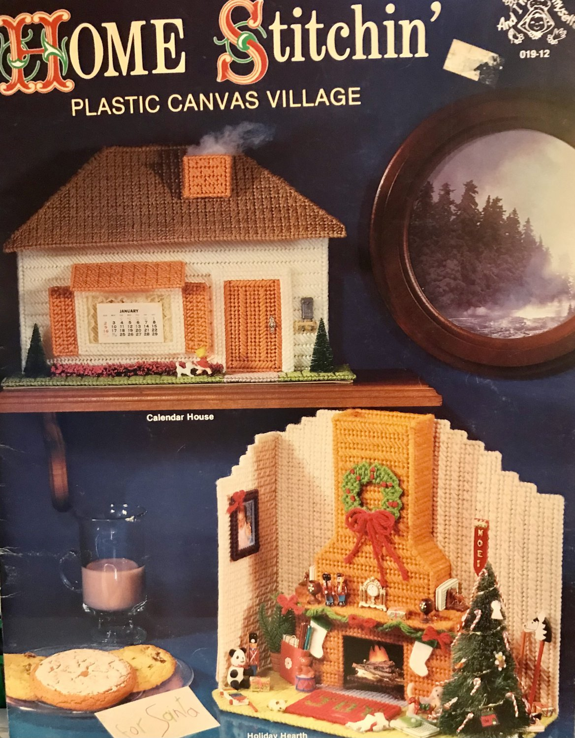 Plastic Canvas Village Home Stitchin' Holiday Crafts Fire House Country Store Barn Mangelsens