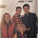Simplicity 9344 Unisex child's Teens and Adult Fleece Vest sewing pattern All Sizes