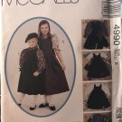 McCall's 4990 Children's Girls' Jumper Blouses and Bag sewing pattern size 8