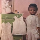 Vogue 7759 inch doll's Pajamas and Undergarments Sewing Pattern