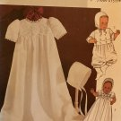 Christening Gown, Baptism Outfit Suit BUTTERICK 4052 B4052 Sewing Pattern size small to xl infant