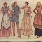 Vogue 7256 Misses' Aprons Sewing Pattern vintage 1975 pattern