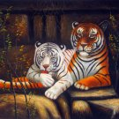 Tiger 24x36 in. stretched Oil Painting Canvas Art Wall Decor modern005