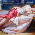Sleeping 24x36 in. stretched Oil Painting Canvas Art Wall Decor modern04D