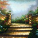 Garden 24x36 in. stretched Oil Painting Canvas Art Wall Decor modern304