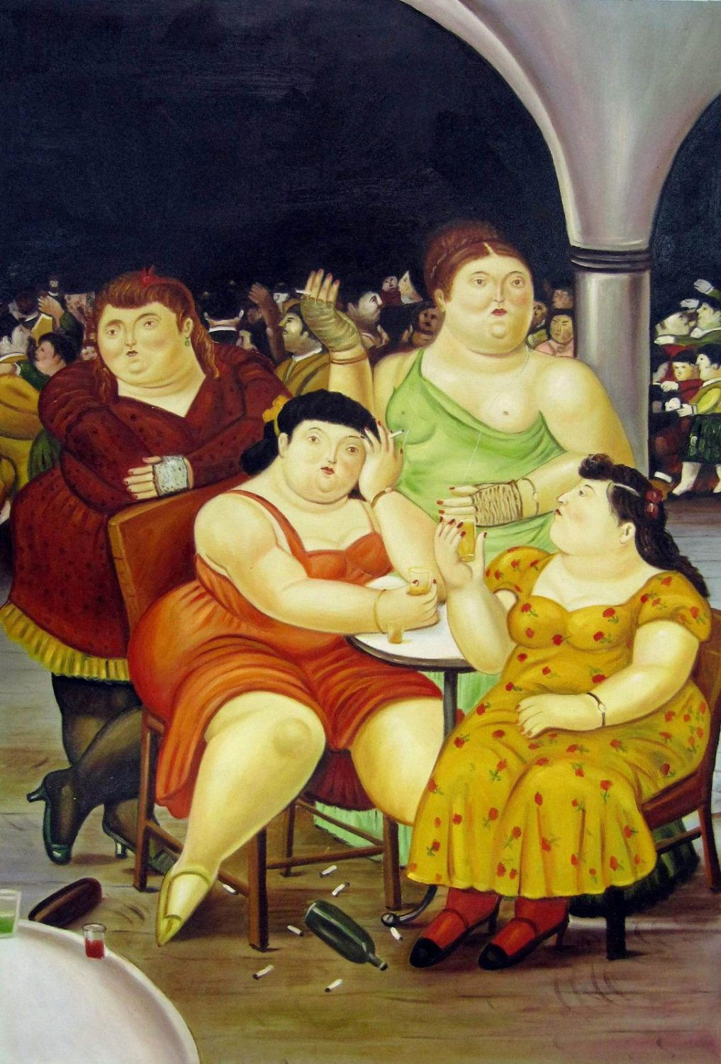 Rep. Fernando Botero 24x36 in. stretched Oil Painting Canvas Art Wall Decor modern31D