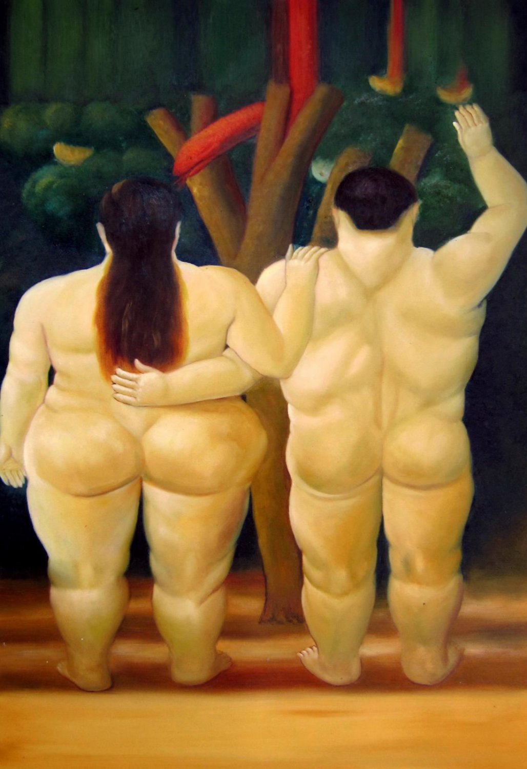Rep. Fernando Botero 24x36 in. stretched Oil Painting Canvas Art Wall Decor modern32D