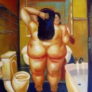 Rep. Fernando Botero 24x36 in. stretched Oil Painting Canvas Art Wall Decor modern234
