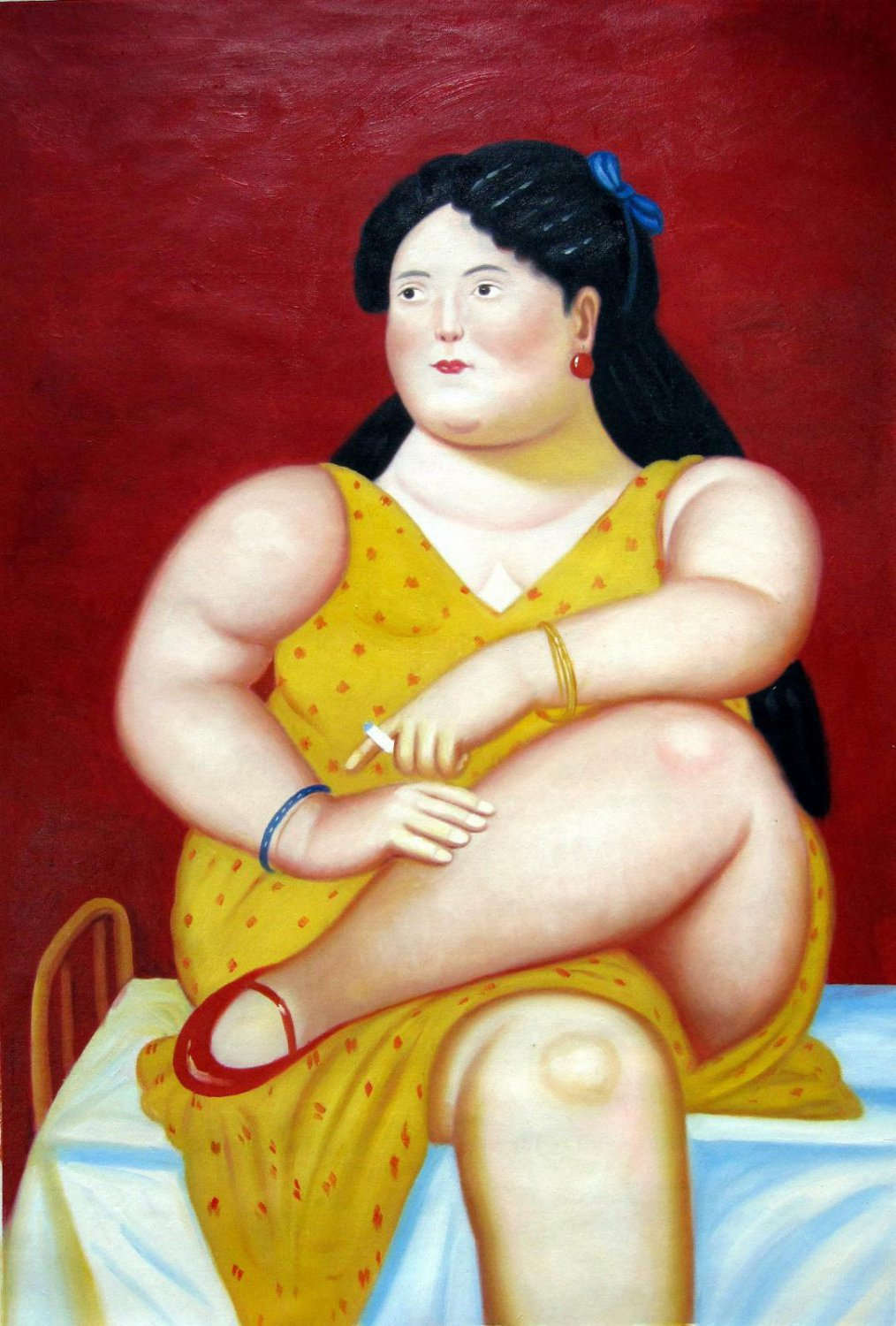 Rep. Fernando Botero 24x36 in. stretched Oil Painting Canvas Art Wall Decor modern48D