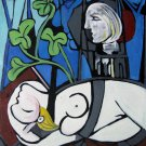 Rep. Pablo Picasso 24x36 in. stretched Oil Painting Canvas Art Wall Decor modern17D
