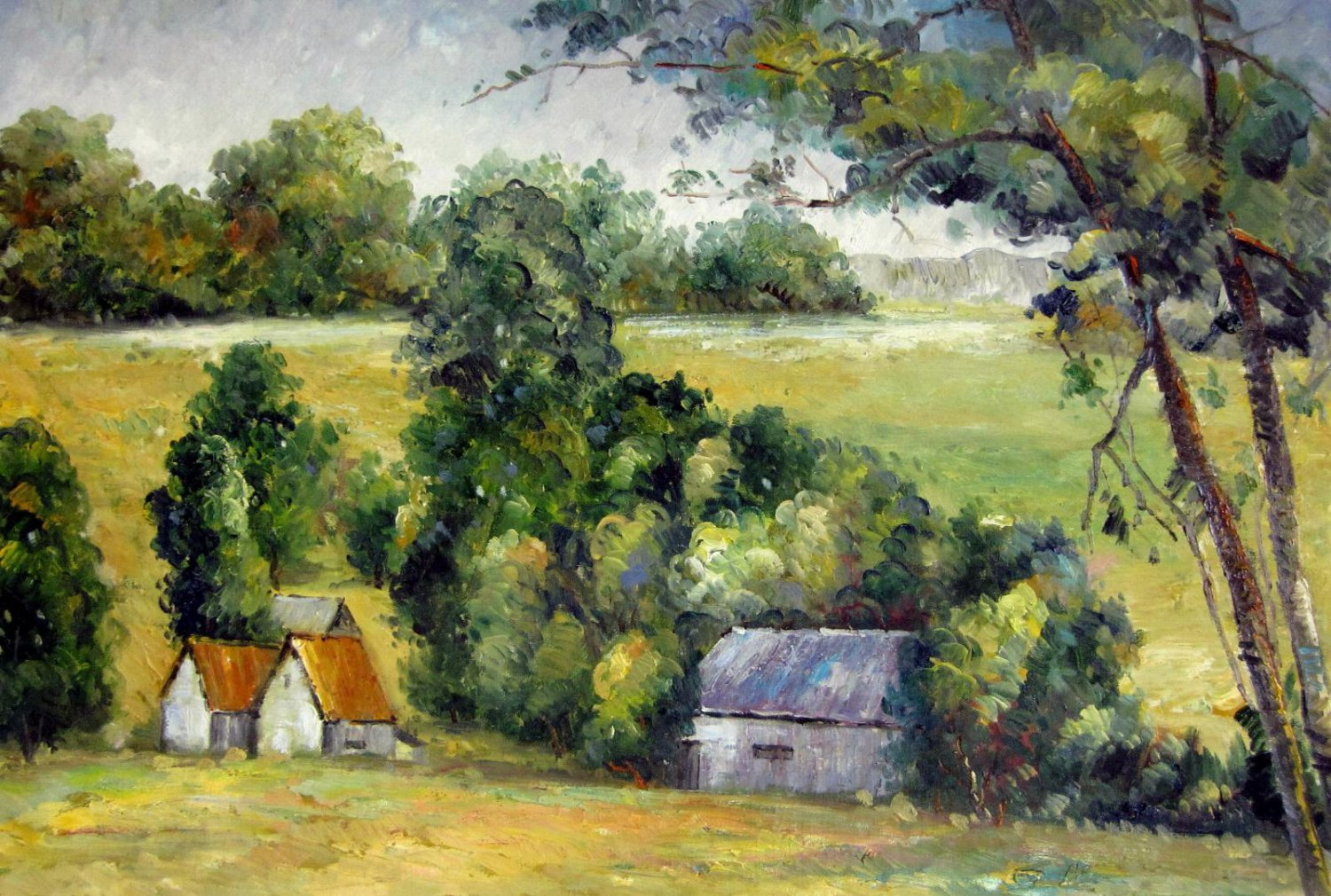 Rep. Paul Cezanne 24x36 in. stretched Oil Painting Canvas Art Wall Decor modern008
