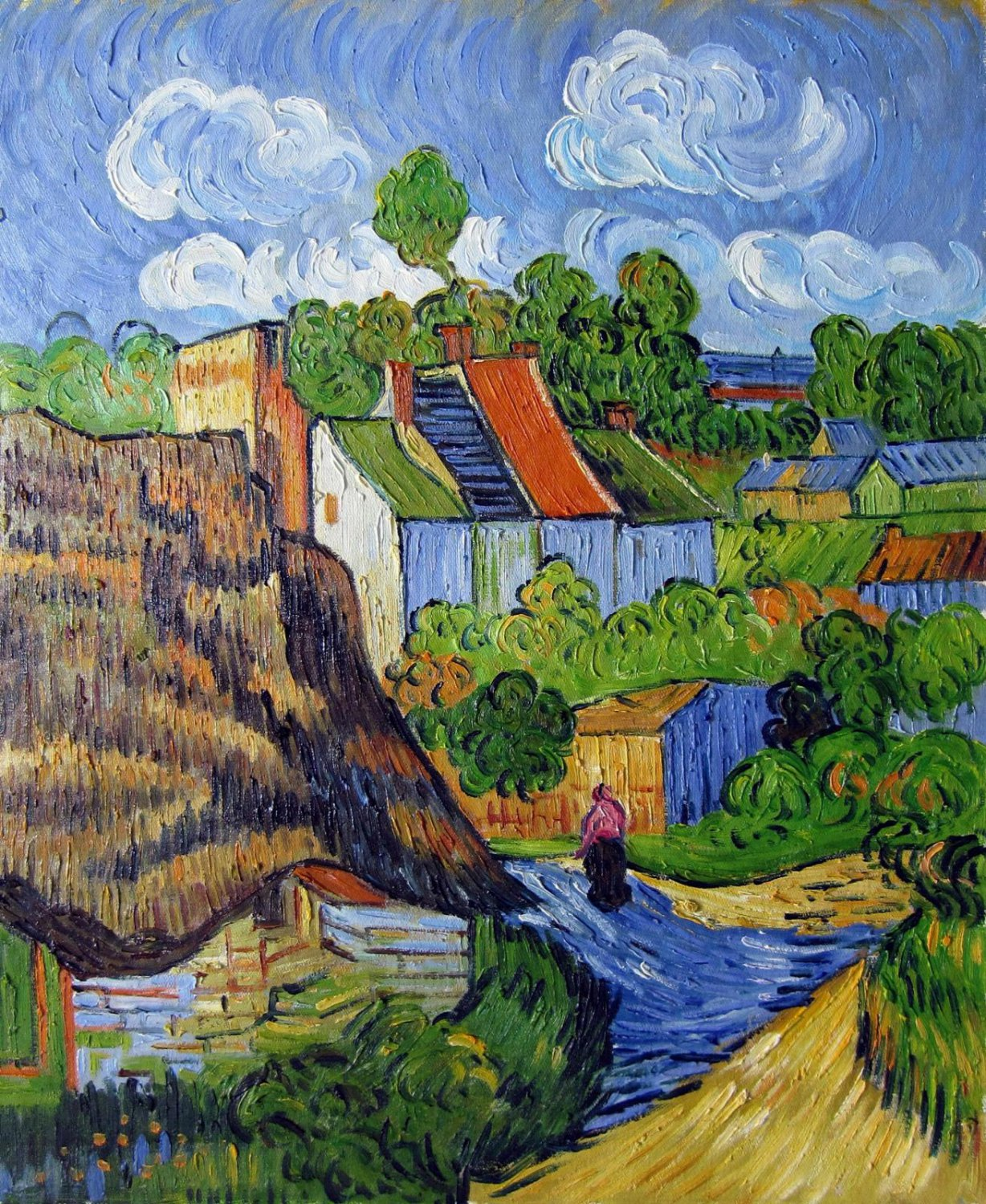 Rep. Vencent Van Gogh 24x36 in. stretched Oil Painting Canvas Art Wall Decor modern23D