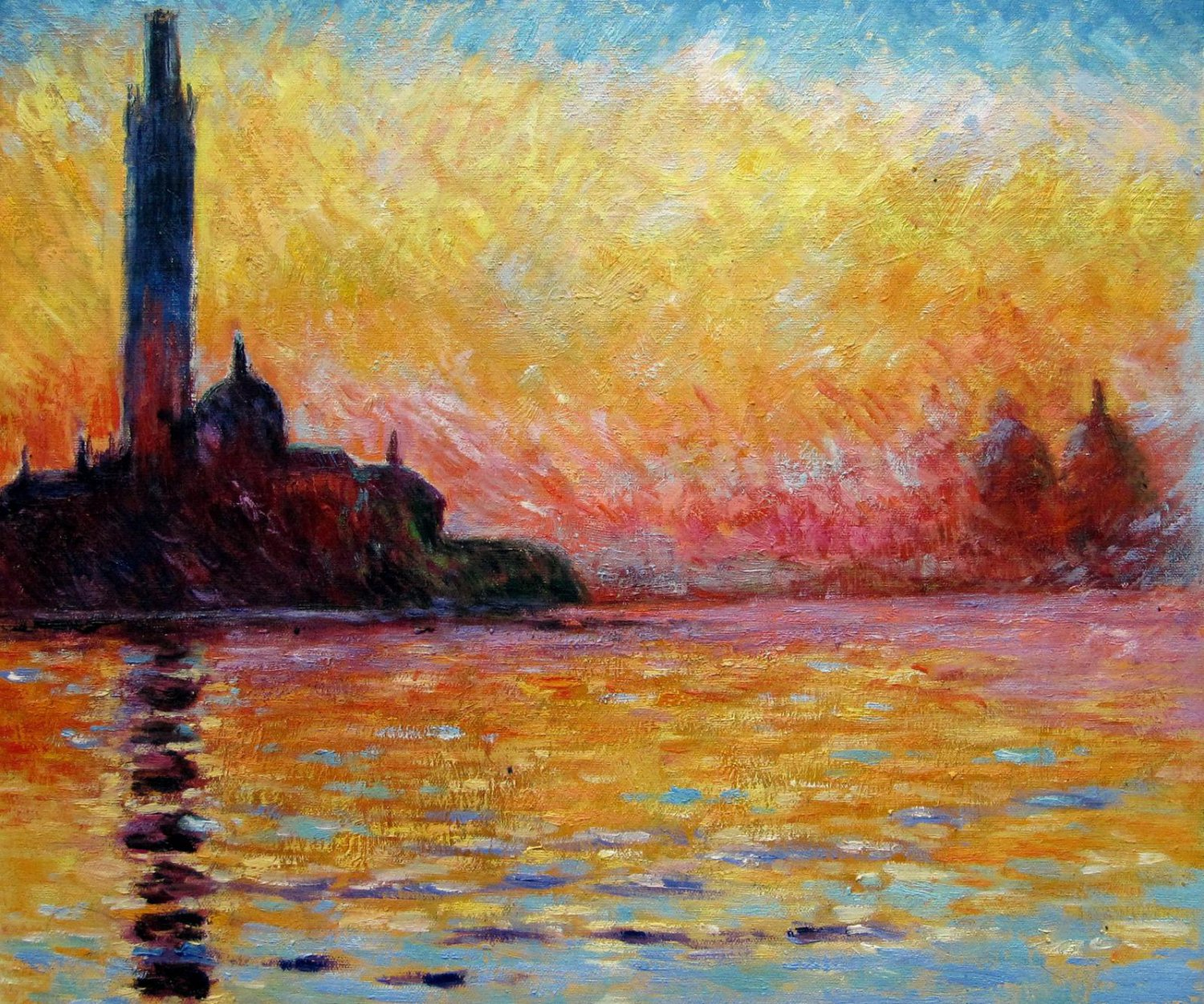 Rep. Claude_Monet 24x36 in. stretched Oil Painting Canvas Art Wall Decor modern03D