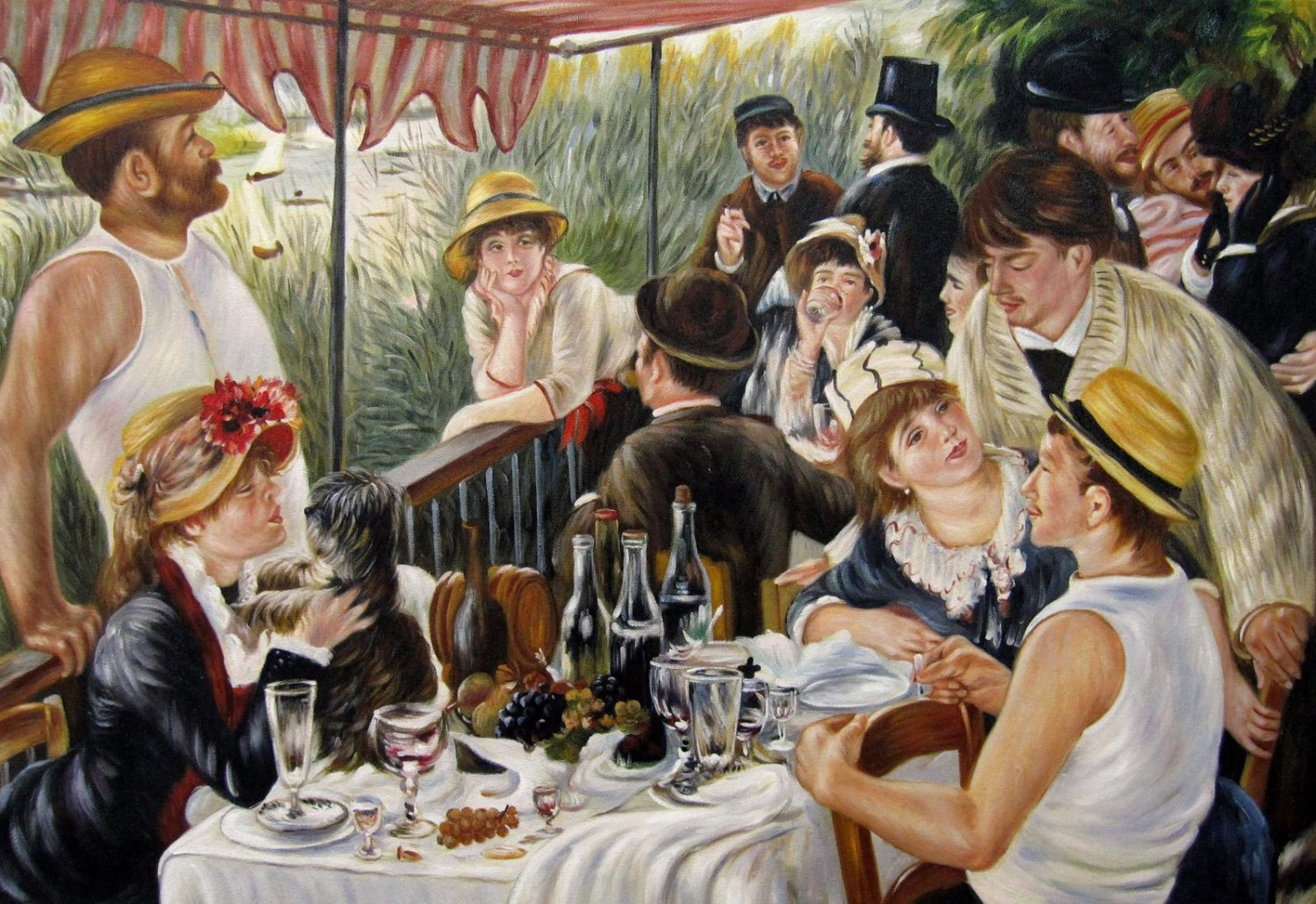Rep. Pierre Auguste Renoir 24x36 in. stretched Oil Painting Canvas Art Wall Decor modernneD
