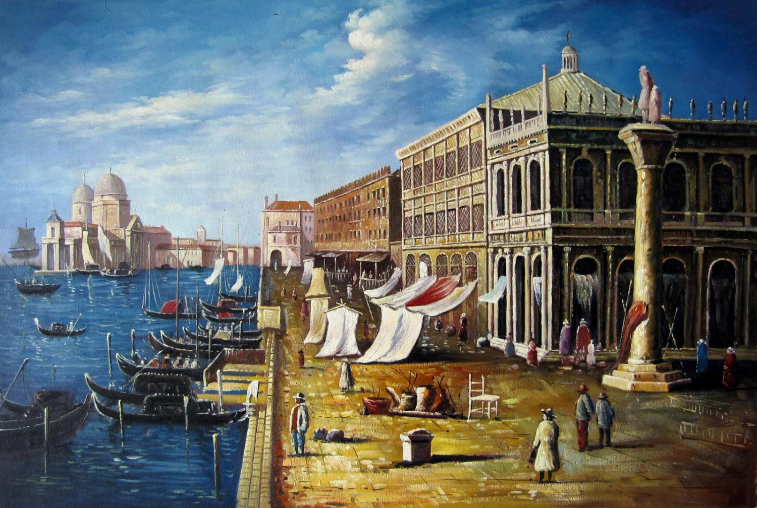 Venice classic 24x36 in. stretched Oil Painting Canvas Art Wall Decor modern09D