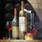 Wine 24x36 in. stretched Oil Painting Canvas Art Wall Decor modern122
