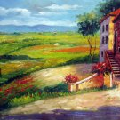 Country and house 20x28 in. stretched Oil Painting Canvas Art Wall Decor modern001