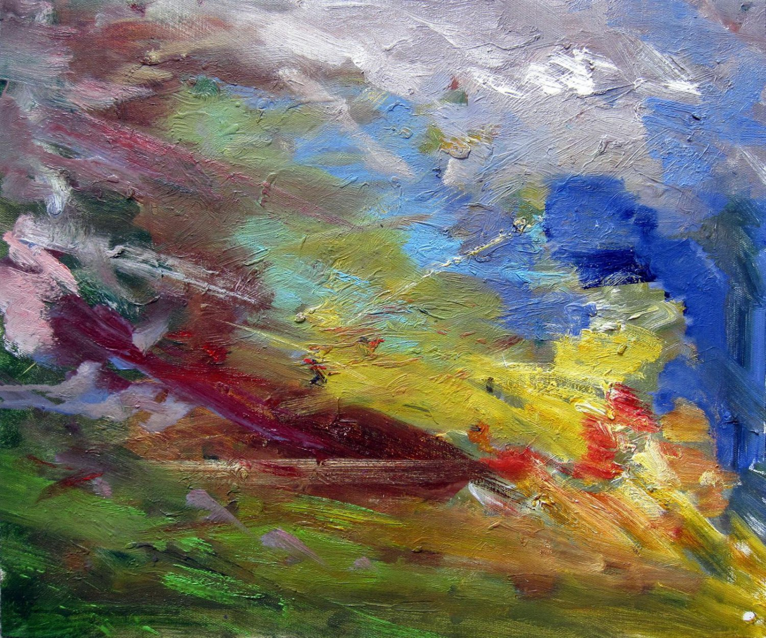 Abstract 20x24 in. stretched Oil Painting Canvas Art Wall Decor modern314