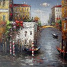 Venice 20x24 in. stretched Oil Painting Canvas Art Wall Decor modern017