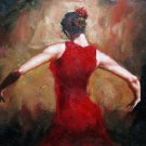 Fiery dance 20x24 in. stretched Oil Painting Canvas Art Wall Decor modern110