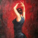 Fiery dance 20x24 in. stretched Oil Painting Canvas Art Wall Decor modern16D