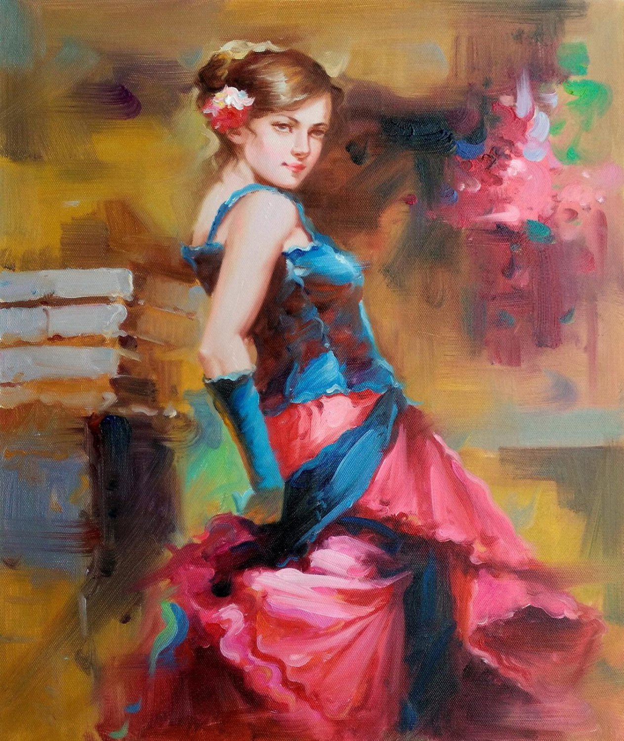 Dance 20x24 in. stretched Oil Painting Canvas Art Wall Decor modern01D