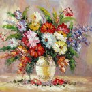 Vase Flower 20x24 in. stretched Oil Painting Canvas Art Wall Decor modern216