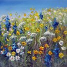 Flowe field 20x24 in. stretched Oil Painting Canvas Art Wall Decor modern203